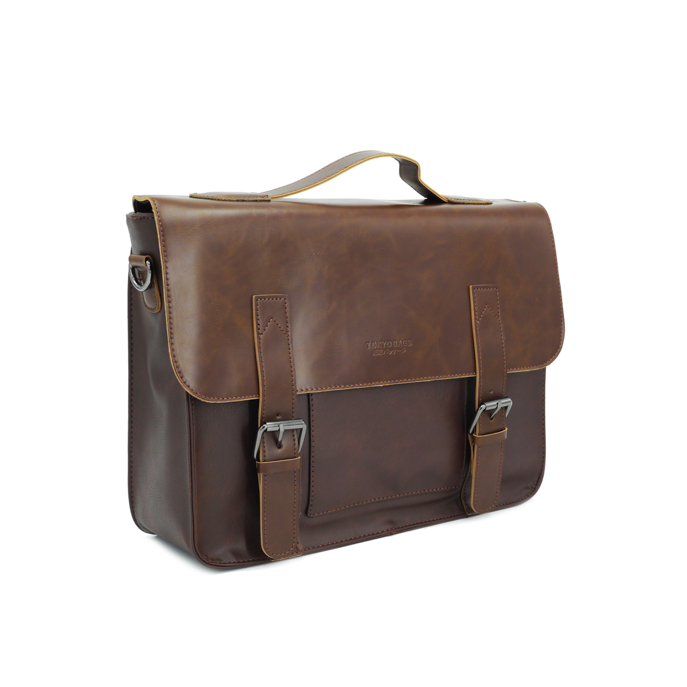 vegan leather briefcase